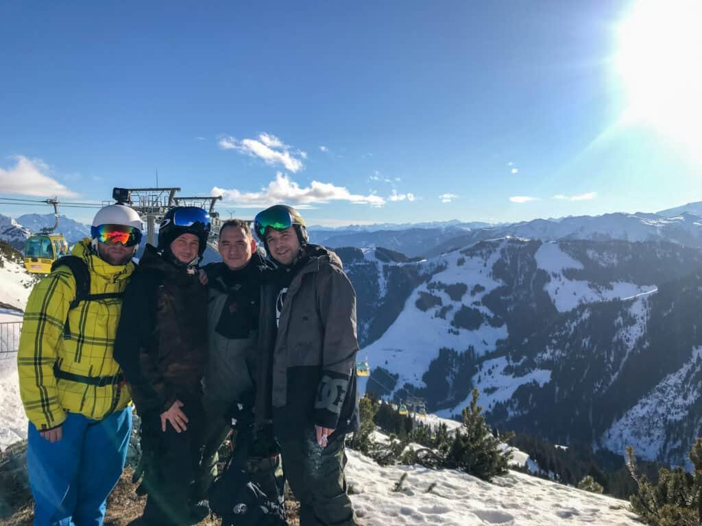 Fieberbrunn - Gruppenfoto am Berg