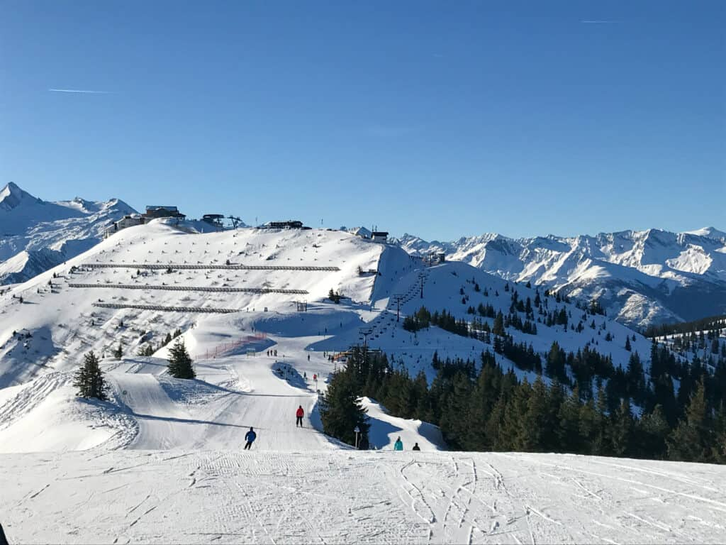 Zell am See - Blick ins Skigebiet aus Richtung Viehhofen